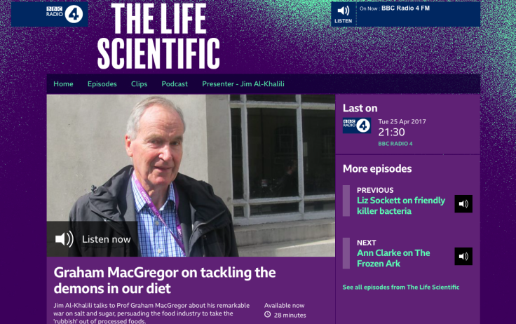 Screenshot of The Life Scientific podcast page