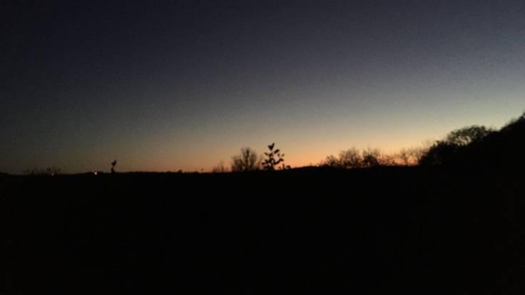 Very dark sunset in a clear sky