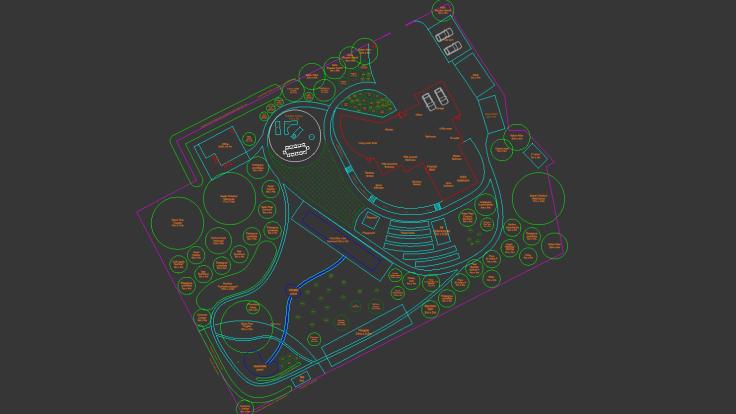 Detailed CAD garden plan