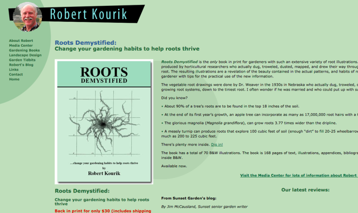 Screenshot of gardeners website