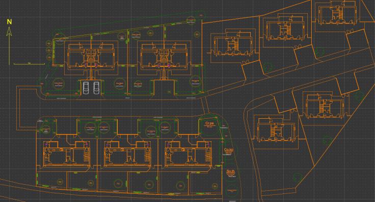 Dark CAD planting plan