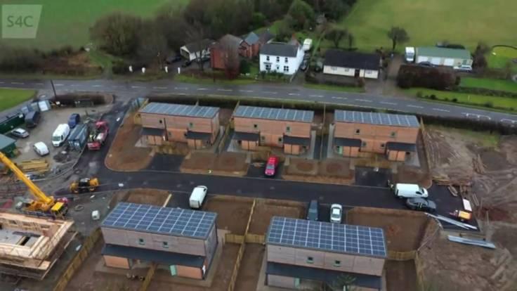 Aerial photo of eco-house development