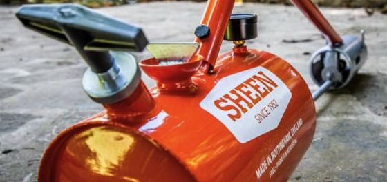 Close up of Sheen flame gun