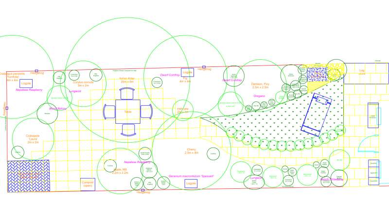 Plain garden CAD plan