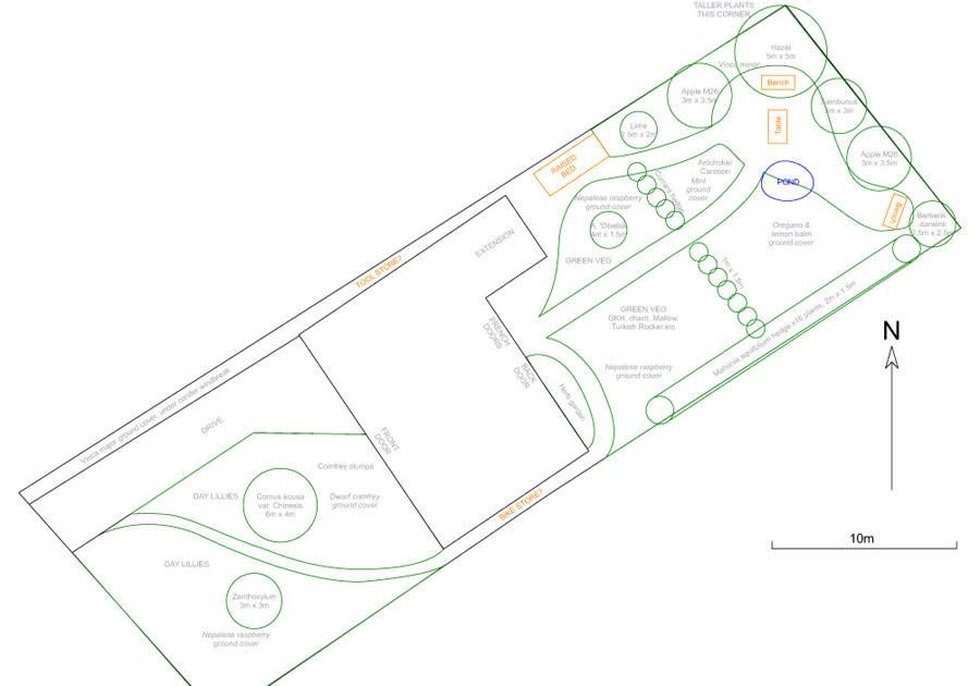 Final CAD plan of garden