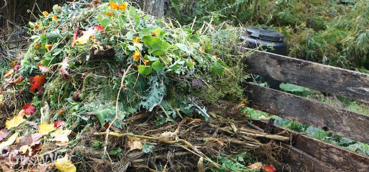 A layered compost heap