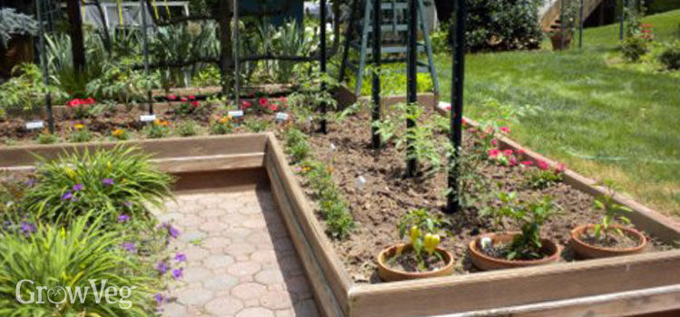 L Shaped Potager Garden Beds
