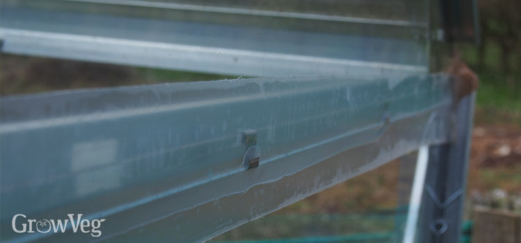 Glazing repair tape holding panes together