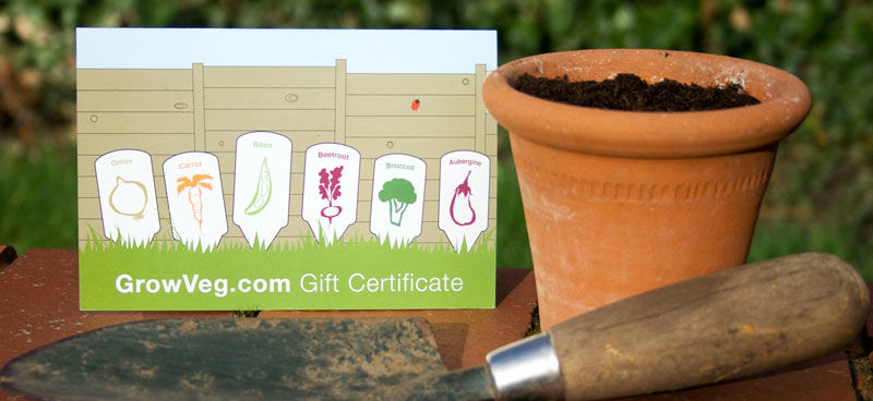 Growveg gift certificates gardening gift garden planner gift certificate yadclub Image collections