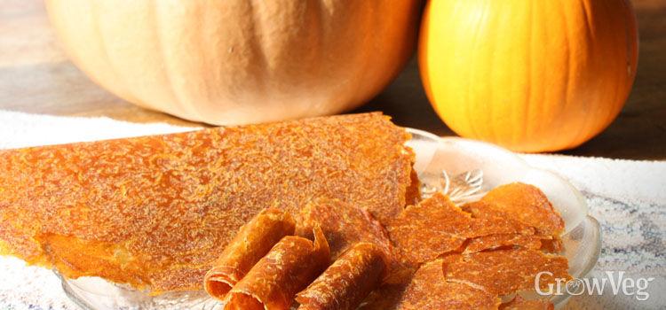 Pumpkin jerky or fruit leather