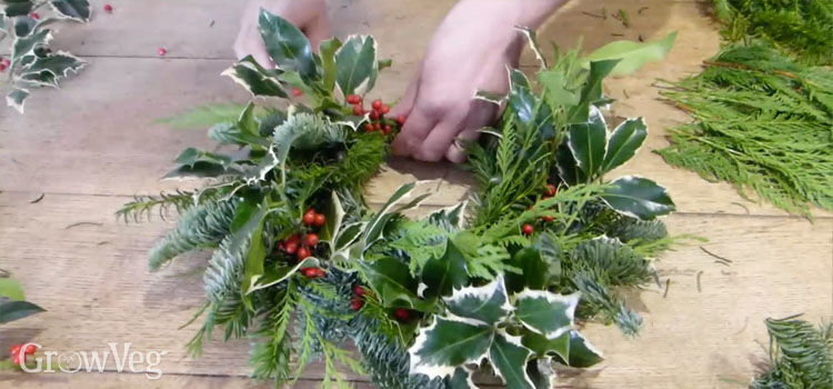 making a christmas wreath - How To Make A Christmas Wreath