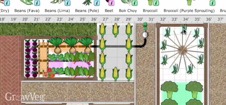 You Can Plan Out The Position Of Your Bean Teepee In The Garden Planner