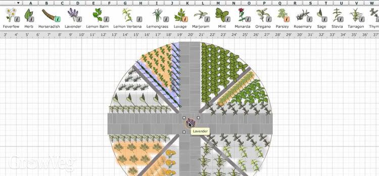 Design your herb garden in our Garden Planner