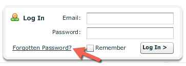 Forgotten password reminder