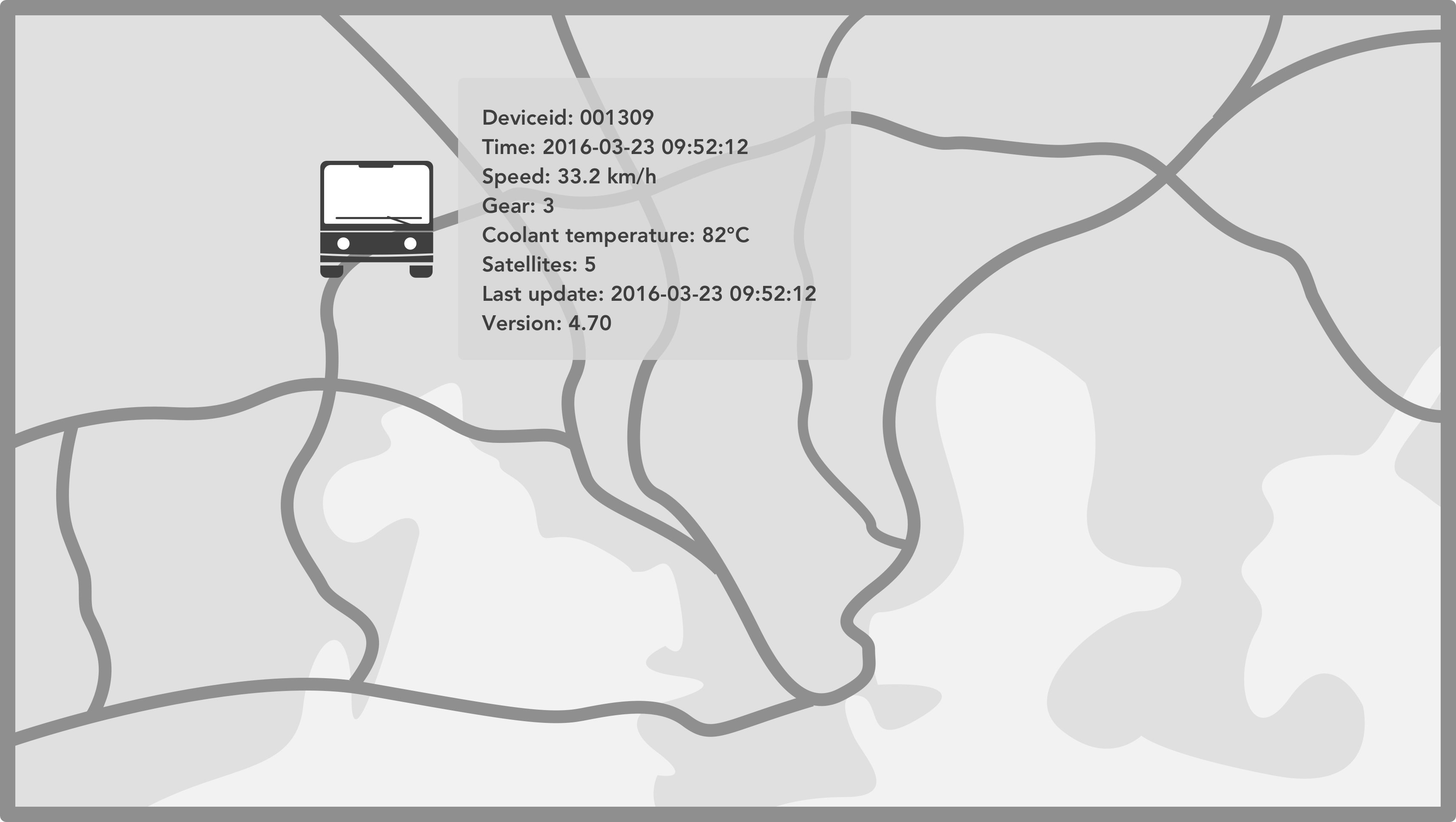 Bus on map