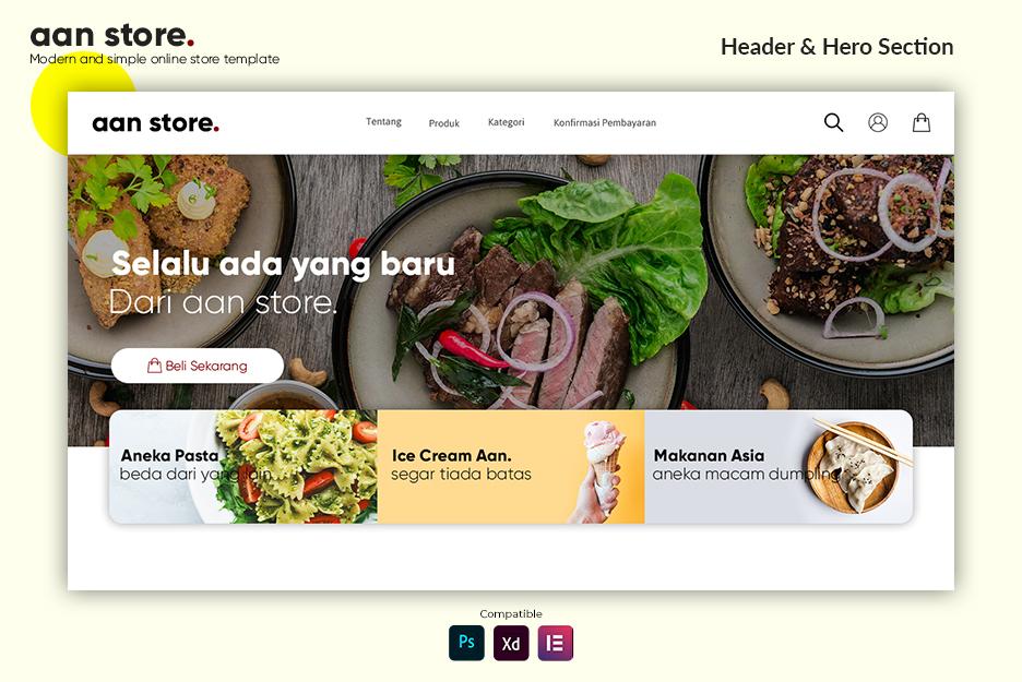 Ecommerce Business Website Design Elementor Templates Graphic Pexel