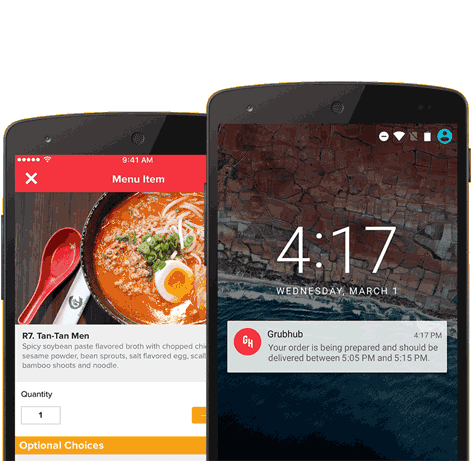 Food Delivery App from Grubhub, Fast and easy way to find food