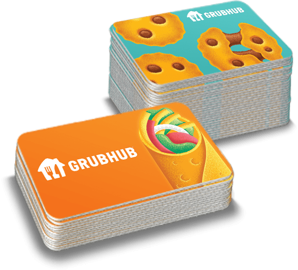 Stack of gift cards.