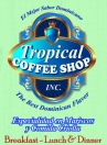 Tropical Coffee Shop Menu