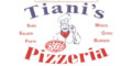 Tiani's Pizza Menu