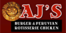 AJ's Burger & Peruvian Chicken Menu