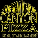 Canyon Pizza Menu