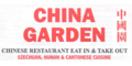 China Garden Chinese Menu