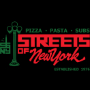 Streets of NY Pizza Menu