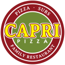 Capri Pizza Menu