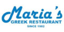 Maria's Greek Restaurant Menu