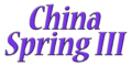 China Spring III Menu