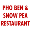 Pho Ben & Snow Pea Restaurant Menu
