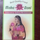 Moharani Indian Restaurant Menu