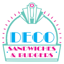 Deco Sandwiches and Burgers Menu