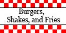 Burgers, Shakes, and Fries Menu