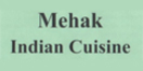 Mehak Indian Cuisine Menu
