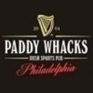 Paddy Whacks Menu
