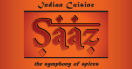 Saaz Indian Restaurant Menu