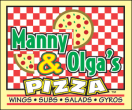 Manny & Olga's Pizza Menu