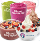 Planet Smoothie and Tasti D-Lite Menu