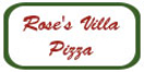 Rose's Villa Pizza Menu