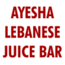 Ayesha Lebanese Juice Bar Menu
