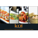 Koi Chinese and Sushi Menu