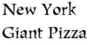 New York Giant Pizza Menu
