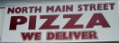 North Main Street Pizza Menu