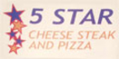 5 Star Cheese Steak & Pizza  Menu