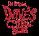 Dave's Cosmic Subs Menu