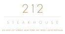 212 Steakhouse Menu