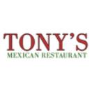 Tony's Mexican Restaurant Menu