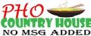 Pho Country House Menu